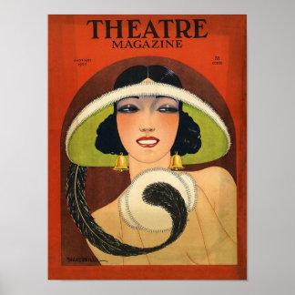 Theater-Titelseiten-1924 Vintager Deko Poster