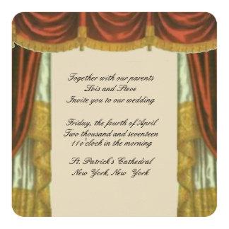 Theater-Vorhang-Hochzeits-Einladung Karte