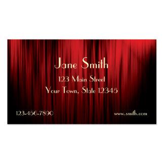 Theater-Vorhang-Visitenkarte Visitenkarten