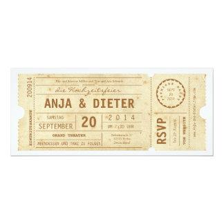 Theaterkarte Hochzeitseinladung Personalisierte Ankündigung