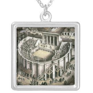 Theaterrekonstruktion, römisches 2. Jahrhundert Versilberte Kette