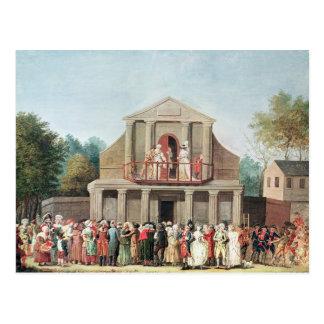 Theatervorstellung an Saint Laurent Postkarte