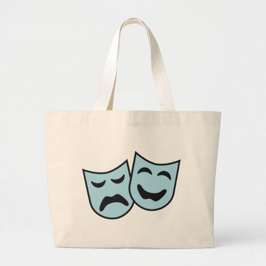 theatre mask jumbo stoffbeutel