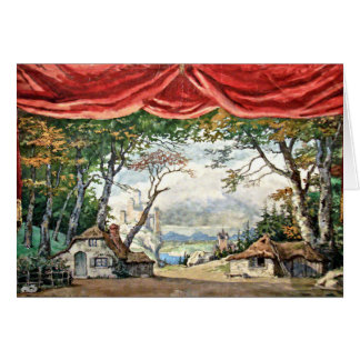 THEATRE STAGE BACKDROP DECOR, BALLETT GISELLE GIFT KARTE