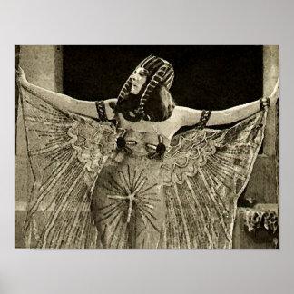 Theda Bara als Vintager Film Kleopatra Poster