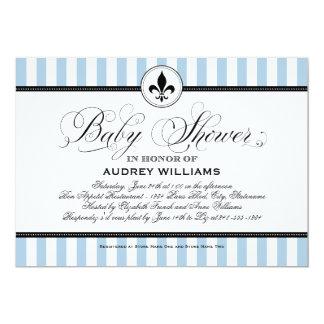 Thema der Babyparty-Einladungs-  Paris Frankreich 12,7 X 17,8 Cm Einladungskarte