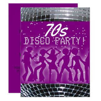 Thema-Party Siebzigerjahre des Disco-Tanz-Party Karte