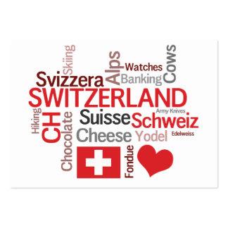 Thema-Tourismus-Visitenkarten der Schweiz