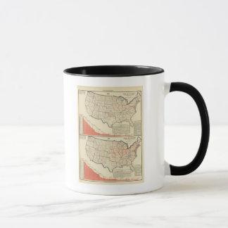Thematische Karten Vereinigter Staaten Tasse
