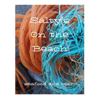 Themed Flyer des Strandes