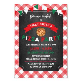 Themed Geburtstags-Party Einladung der Pizza