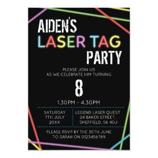 Themed Geburtstags-Party Einladung Laser-Umbaus