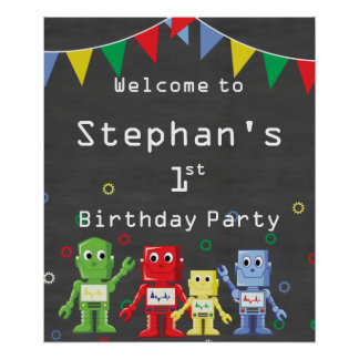 Themed Geburtstags-Party willkommenes Zeichen Poster