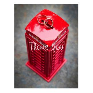 Themed Hochzeit Londons addieren Ihr Foto danken Postkarte