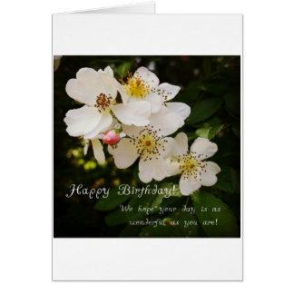 Themenorientierte Geburtstags-mit Blumenkarte Karte