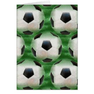 themenorientierte Grußkarte des Fußballs