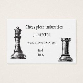 Themenorientierte Visitenkarte des Schachstückes