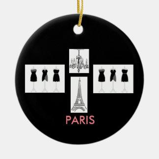 Themenorientierte Weihnachtsverzierung schwarze Keramik Ornament