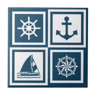 Themenorientierter nautischentwurf keramikfliese
