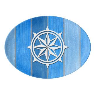 Themenorientierter nautischentwurf porzellan servierplatte