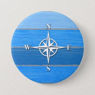 Themenorientierter nautischentwurf runder button 7,6 cm