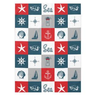 Themenorientierter nautischentwurf tischdecke