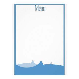 Themenorientiertes leeres Menü des Ozeans 21,6 X 27,9 Cm Flyer