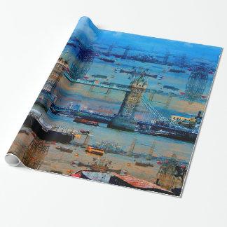 Themse-Erinnerungen der Turm-Brücke, London Geschenkpapier