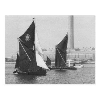 Themse-Lastkahn Rennen 1975 10 Postkarte