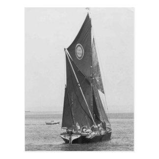 Themse-Lastkahn Rennen 1975 12 Postkarte