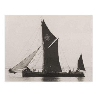 Themse-Lastkahnrennen 1975 6 Postkarte