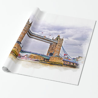 Themse- u. Turm-Brücke, London England Geschenkpapier