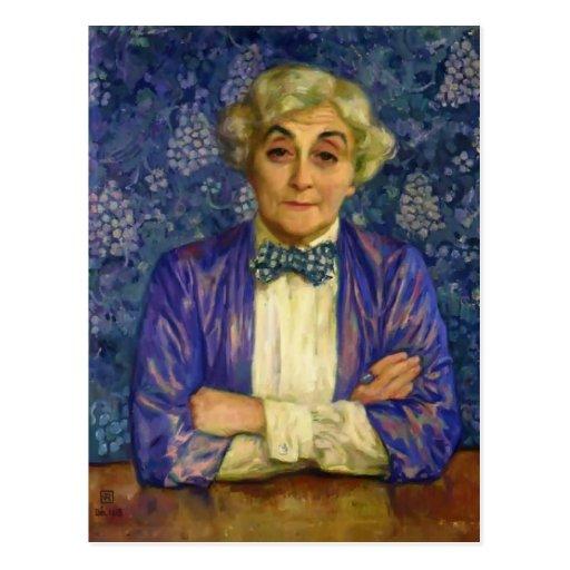 Theo Rysselberghe- Madame van Rysselberghe Postkarten