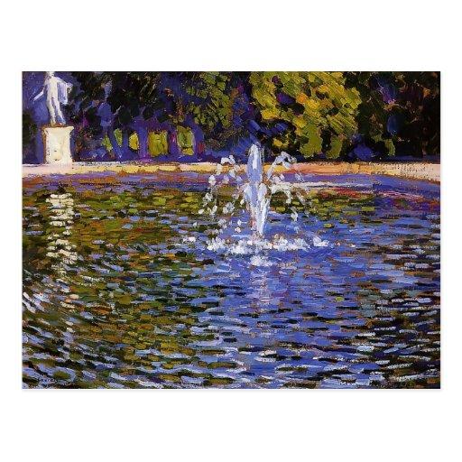 Theo Rysselberghe- Parc ohne Souci in Potsdam Postkarte