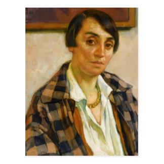Theo Rysselberghe-Porträt von Elizabeth Postkarten