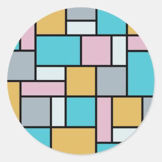 Theo van Doesburg - Zusammensetzung 17 - Mondrian Runder Aufkleber