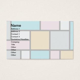 Theo van Doesburg - Zusammensetzung 17 - Mondrian Visitenkarte