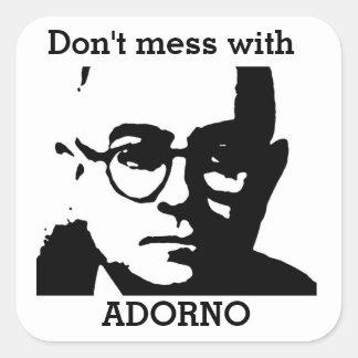 Theodor Adorno Quadrat-Aufkleber