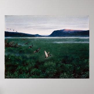 Theodor Kittelsen die zwölf Wildenten Poster