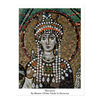 Theodora durch Meister von San Vitale in Ravenna Postkarte