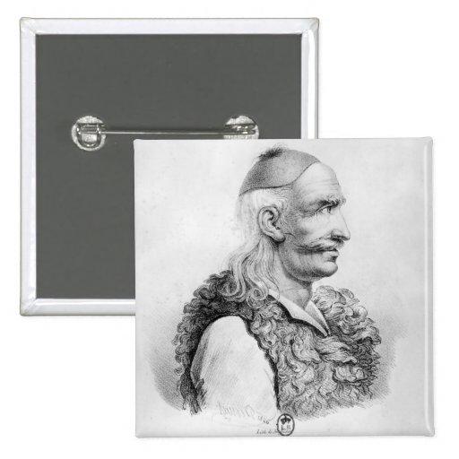 Theodore Kolokotronis graviert von Alois Anstecknadelbutton