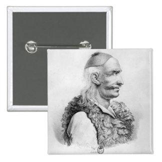 Theodore Kolokotronis graviert von Alois Quadratischer Button 5,1 Cm