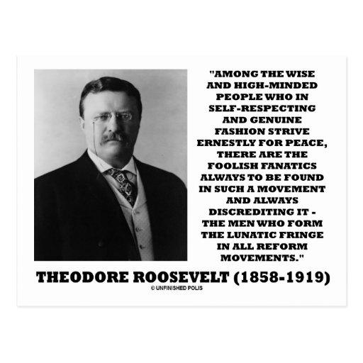 Theodore Roosevelt-Fanatiker-Extremisten-Zitat Postkarte ...