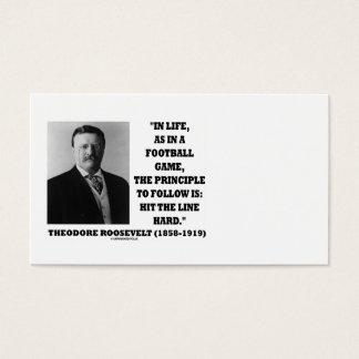 Theodore Roosevelt im Leben-Fußballspiel-Prinzip Visitenkarte