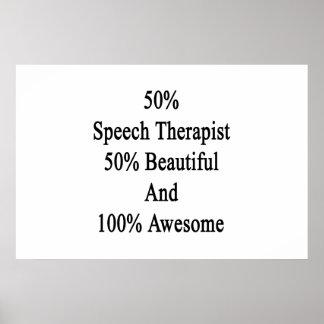 Therapeut 50 der Sprache-50 schöne und 100 Poster