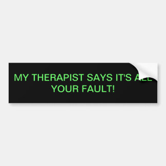 Therapie Autoaufkleber