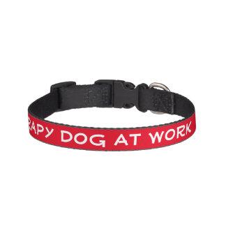 Therapie-Hund bei der Arbeit (klein) Hundehalsband