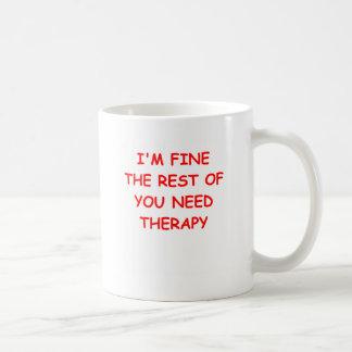 Therapie Kaffeetasse