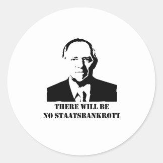 There will be no Staatsbankrott Runder Aufkleber