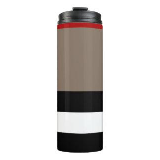 Thermische Trommel - beige Streifen Thermosbecher